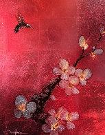 Crimson Blossom 2012 28x34 Original Painting by Patrick Guyton - 0