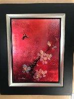 Crimson Blossom 2012 28x34 Original Painting by Patrick Guyton - 1