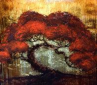 Gold Tree 2013 30x30 Original Painting by Patrick Guyton - 0