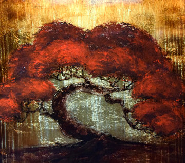 Gold Tree 2013 30x30 Original Painting - Patrick Guyton