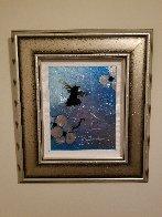 Mini Bird Series (Blue) 2013 10x8 Original Painting by Patrick Guyton - 2