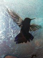 Mini Bird Series (Blue) 2013 10x8 Original Painting by Patrick Guyton - 3