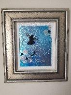 Mini Bird Series (Blue) 2013 10x8 Original Painting by Patrick Guyton - 1