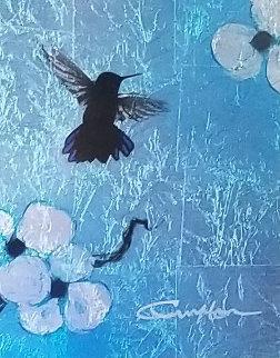 Mini Bird Series (Blue) 2013 10x8 Original Painting by Patrick Guyton