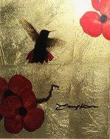 Mini Bird Series (Gold) 2013 17x15 Original Painting by Patrick Guyton - 0