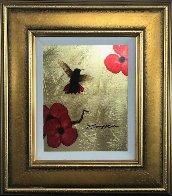 Mini Bird Series (Gold) 2013 17x15 Original Painting by Patrick Guyton - 1