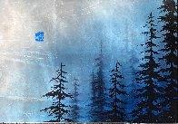Blue Winter  2017 12x17 Original Painting by Patrick Guyton - 3