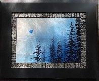 Blue Winter  2017 12x17 Original Painting by Patrick Guyton - 1