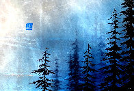 Blue Winter  2017 12x17 Original Painting by Patrick Guyton - 0