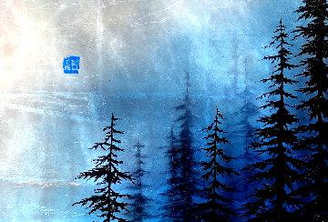 Blue Winter  2017 12x17 Original Painting by Patrick Guyton