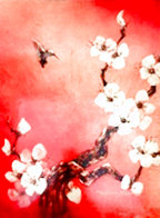 Crimson Glory 2014 23x17 Original Painting by Patrick Guyton - 0
