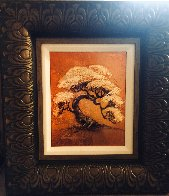 Arbre-Petite (Gold) 2014 16x18 Original Painting by Patrick Guyton - 2