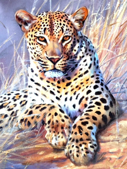 Leopard 1995 24x30 Original Painting by Grant Hacking
