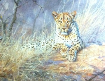 Leopard 1995 24x30 Original Painting - Grant Hacking