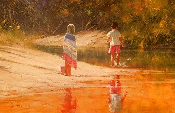 Untitled Painting 36x47 Original Painting - Robert Hagan