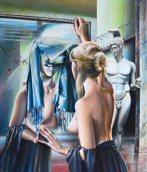 Mirror 2009 41x35 Original Painting by Victor Hagea
