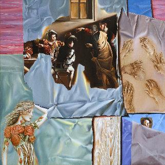 Italian Project 2006 32x32 Original Painting by Victor Hagea