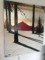 Golden Silence I 2005 72x60 Super Huge Original Painting by Hamilton Aguiar  - 3
