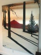 Golden Silence I 2005 72x60 Super Huge Original Painting by Hamilton Aguiar  - 2
