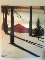 Golden Silence I 2005 72x60 Super Huge Original Painting by Hamilton Aguiar  - 1