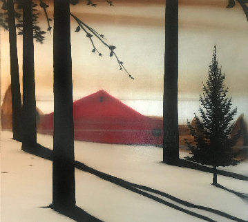 Golden Silence I 2005 72x60 Original Painting - Hamilton Aguiar