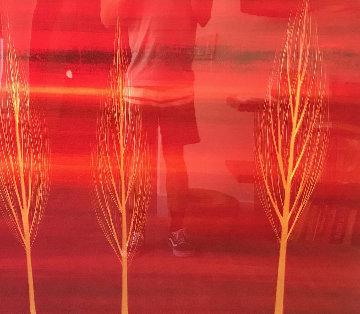 Trio XXXVI 2006 48x48 Original Painting - Hamilton Aguiar