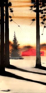 My Place #7034 2007 15x30 Original Painting - Hamilton Aguiar