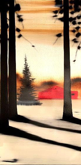My Place #7034 2007 15x30 Original Painting by Hamilton Aguiar