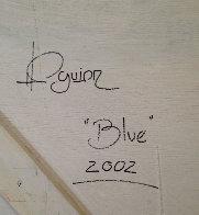 Blue 2002 48x48 Super Huge Original Painting by Hamilton Aguiar  - 1
