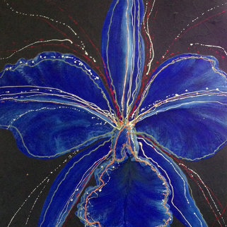 Blue 2002 48x48 Original Painting - Hamilton Aguiar