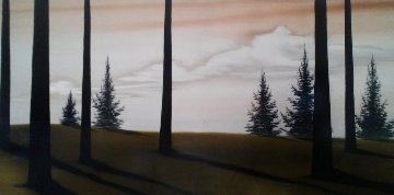 Untitled Painting 26x60 Original Painting by Hamilton Aguiar