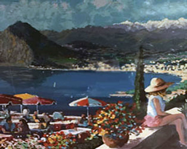 Lugano 1993 Limited Edition Print by Kerry Hallam