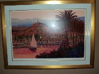 Riviera Twilight Embellished Limited Edition Print by Kerry Hallam - 1