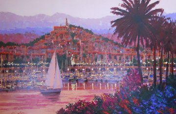 Riviera Twilight Embellished Limited Edition Print by Kerry Hallam