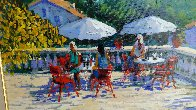 Terrace in the Midi 38x48 Original Painting by Kerry Hallam - 2