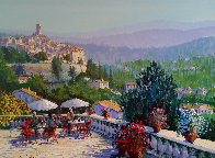 Terrace in the Midi 38x48 Original Painting by Kerry Hallam - 0