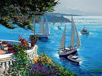 Riviera Terrace AP Limited Edition Print by Kerry Hallam