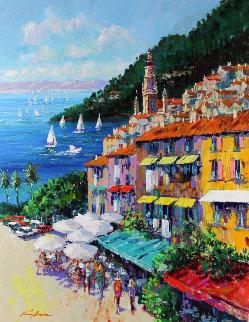 Cinqueterre 55x48 Huge Original Painting - Kerry Hallam