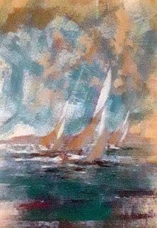 Monterey Chart  51x39 Original Painting - Kerry Hallam