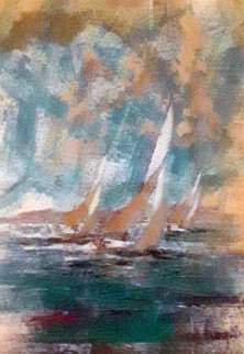 Monterey Chart  51x39 California  Original Painting - Kerry Hallam