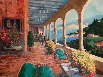 Grande Hotel  2003 38x48 Original Painting - Kerry Hallam