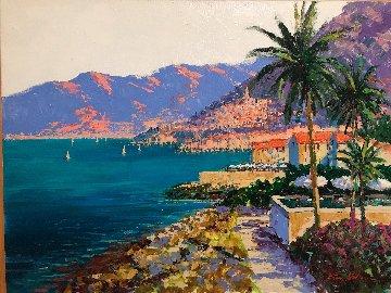 Along the Riviera 2009 39x49  Huge Original Painting - Kerry Hallam