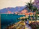 Along the Riviera 2009 39x49 Original Painting by Kerry Hallam - 0