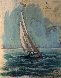 Tampa Bay Nautical Charg 2001 52x45 Works on Paper (not prints) by Kerry Hallam - 0