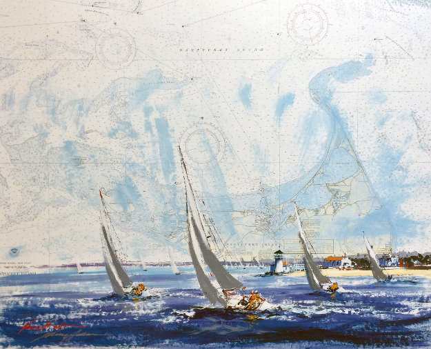Nantucket Island 2000 27x28 Works on Paper (not prints) by Kerry Hallam