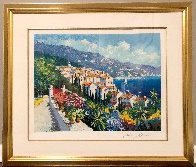 Mediterranean Suite: Eze Village and Mediterranean View 1993 Limited Edition Print by Kerry Hallam - 1