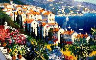 Mediterranean Suite: Eze Village and Mediterranean View 1993 Limited Edition Print by Kerry Hallam - 2