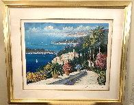 Mediterranean Suite: Eze Village and Mediterranean View 1993 Limited Edition Print by Kerry Hallam - 5