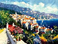 Mediterranean Suite: Eze Village and Mediterranean View 1993 Limited Edition Print by Kerry Hallam - 0