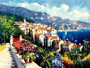 Mediterranean Suite: Eze Village and Mediterranean View 1993 Limited Edition Print by Kerry Hallam